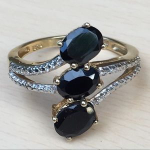 Jewelry - NWT 14K Gold Black Spinel Ring